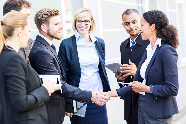 business team geschftsabschluss